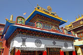 Buddhistic temple near Bothanath stupa, Nepal. — Foto de Stock