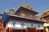 Tybet świątyni w pobliżu stupy bothanath, nepal. — Zdjęcie stockowe