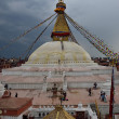 Rain coming at Bodhnath Stupa in Kathmandu, Nepal. — Stock Photo
