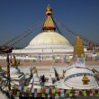 Boudhanath Stupa in the Kathmandu valley, Nepal - Stock Photo