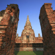 Stock Photo: Old temple at Wat Chaiwatthanaram, Ayutthaya province, Thailand.