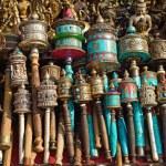 Nepalese Prayer Wheels on swayambhunath stupa in Kathmandu, Nepa — Stock Photo #25393427