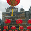 Chinese paper lanterns in chinese new year, Yaowaraj china town  — Stock Photo