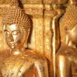 There are four small statues of Buddha in the temple Phumin Nan, — Stock Photo #25394487