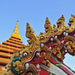 Постер, плакат: Golden pagoda at Wat Nong Wang temple Khonkaen Thailand