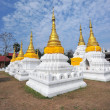 Golden Pagoda in wat jehdi shao, lumphang, thailand  — Stock Photo