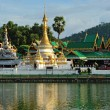 Wat Jong Klang in Maehongson,province North of Thailand — Foto Stock