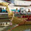 BANGKOK, THAILAND-MAY 5: Decorated barge parades at the Chao Phr — Stock Photo #25397771