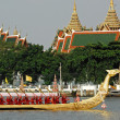 BANGKOK, THAILAND-MAY 5: Decorated barge parades at the Chao Phr — Stock Photo #25397781