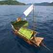 Stock Photo: Craft boat floating in ceremony for respect to ancestor of SeG