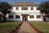 佛教寺庙附近 bothanath 佛塔,尼泊尔. — 图库照片