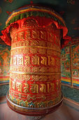 Huge rotating praying drum in Boudhanath stupa, Kathmandu, nepal — Stockfoto