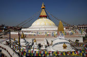 Boudhanath Stupa in the Kathmandu valley, Nepal — Stock Photo