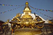 The Vajra dorje in Swayambhunath Monastery, Nepal — Stock Photo