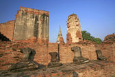 Headless ruin buddha status in Ayutthaya, Thailand — Stock Photo