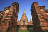 Old temple at Wat Chaiwatthanaram, Ayutthaya province, Thailand. — 图库照片