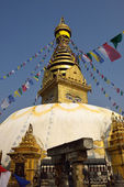The wisdom eyes, Swayambhunath Monastery, Nepal — Foto Stock