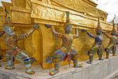 Mythological figure of the indian epic ramayana, the demon guard — Stock Photo