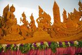 Candela mano artigianale in festival candela in thailandia — Foto Stock