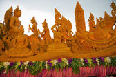 Candle hand craft in candle festival in thailand — Foto Stock