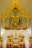 There are four small statues of Buddha in the temple Phumin Nan, Thailand — Stock Photo