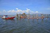 Fish trap in the sea, Thailand. — Stock Photo