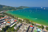Patong tropical beach from aerial view, Phuket. Thailand. — Stock Photo