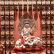 The statue of Buddha in Chinese Buddha Tooth Relic Temple in Sin — Stock Photo