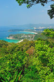 Viewpoint phuket bay city thailand — Stock Photo