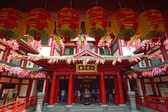 Buddha tooth relic tempel in china stadt singapur — Stockfoto
