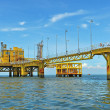 Oil transfer platforms — Stock Photo