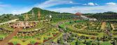 Panoramic view of Nong Nooch Garden in Pattaya, Thailand — Stock Photo