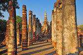 Sukhotai ruin old city country Thailand — Foto Stock