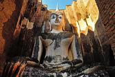 Ancient buddha statue. Sukhothai Historical Park, Sukhothai Prov — Stock Photo