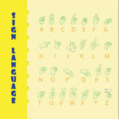 Sign language — Stock Vector