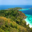 Panoramic viewpoint of Similan Islands Paradise Bay, Thailand  — Stock Photo