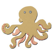 Squid made form tissue papercraft isolated — Stock Photo