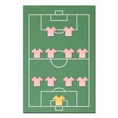 Fußballplatz, hergestellt aus Gewebe papercraft — Stockfoto