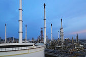 Oil Refinery factory twilight — Stock Photo