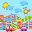 City concept made from plasticine  — Stock Photo