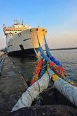 Ship dropped anchors at Bangkok Thailand — Stock Photo