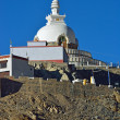 Holy Shanti Stupa in Leh, Ladakh Kashmir India — Stock Photo