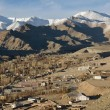 Leh city is located in IndiHimalayas at altitude of 35 — Stock Photo #37940159