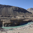 Confluence of Zanskar and Indus rivers - Leh, Ladakh, India — Stock Photo #37941093