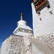 Buddhist monastery (gompa) along river in Ladakh, Jammu & Kashmi — Stock Photo #37943909
