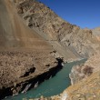 Confluence of Zanskar and Indus rivers - Leh, Ladakh, India — Stock Photo #37945937
