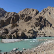 Confluence of Zanskar and Indus rivers - Leh, Ladakh, India — Stock Photo #37946583