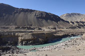 Confluence of Zanskar and Indus rivers - Leh, Ladakh, India — Stock Photo