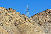 Electricity post in Leh, Ladakh - the far Norther part of India — Stock Photo