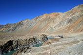 Confluence of Zanskar and Indus rivers - Leh, Ladakh, India — Stock Photo